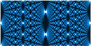 Ein Talbot Teppich - ein Nahfeld Interferenzmuster das in Materiewelleninterferometern genutzt wird um die Wellennatur von Teilchen nachzuweisen.