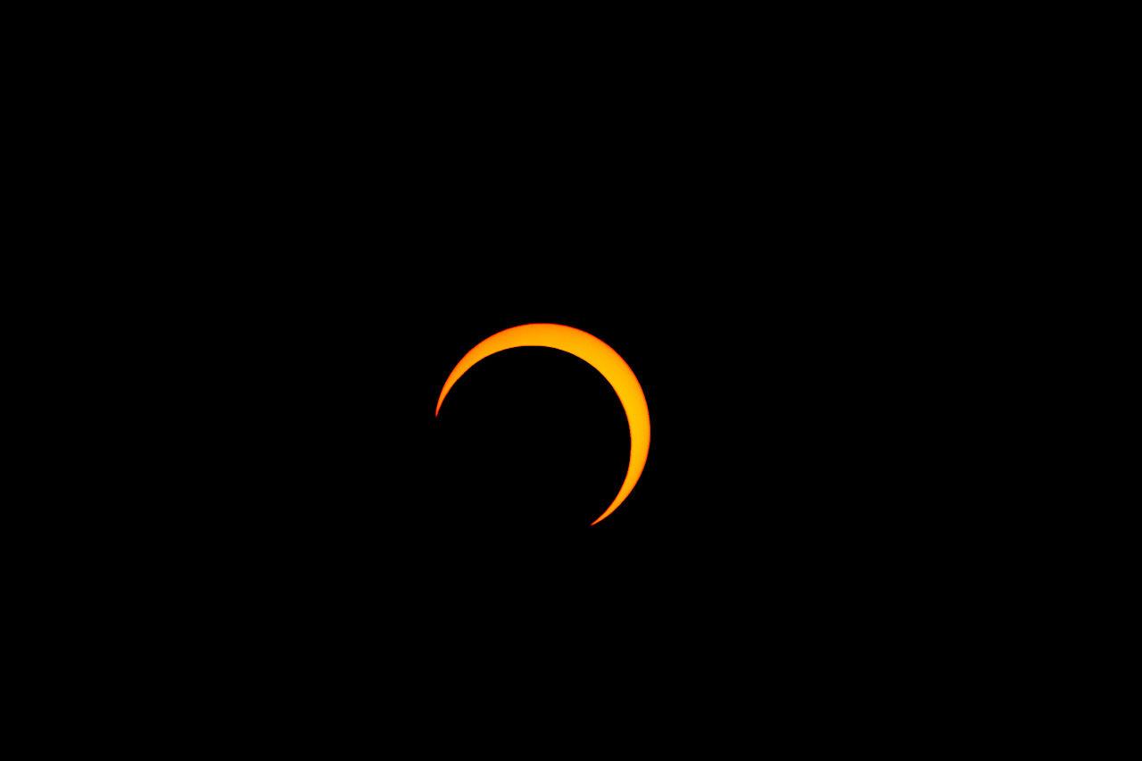 Fotografie einer partiellen Sonnenfinsternis