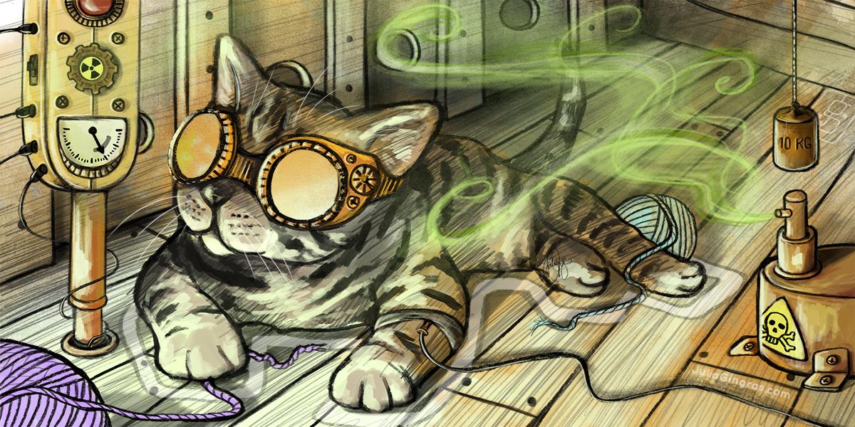 Schrödingers Katze, Illustration von
